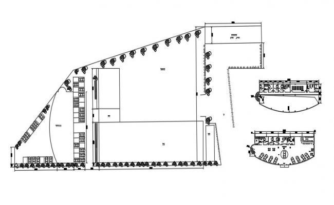 Free Download Car Showroom AutoCAD Plan DWG File