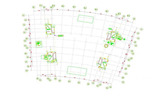 Free Download Center Line Plan AutoCAD File