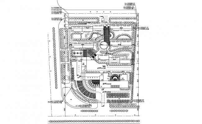 Free Download Commerce Building Area Landscape Plan