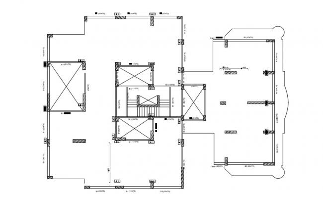 Free Download Commercial Building Column Layout Plan AutoCAD File