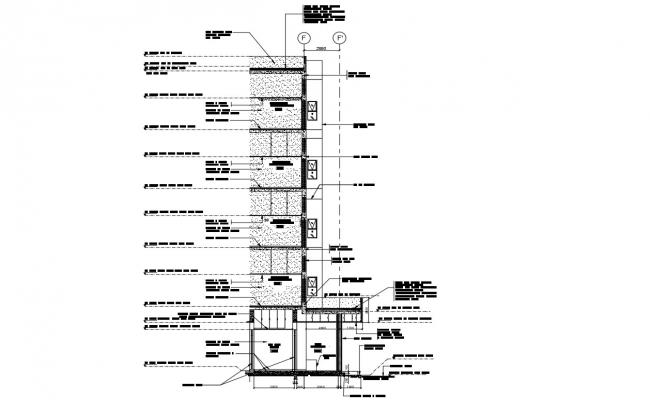 Free Download Commercial Building Wall Section Design AutoCAD File