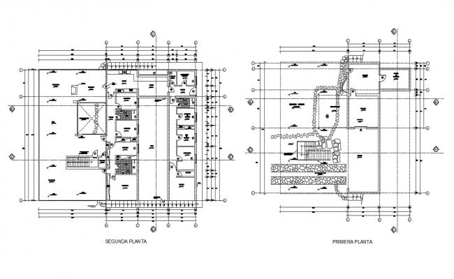 Free Download DWG Drawing Residential Building Floor Plan AutoCAD File