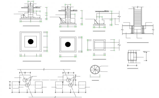 Free Download Foundation Section Design CAD File