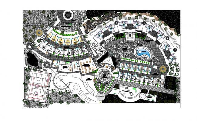 Free Download Hotel Ground Floor plan