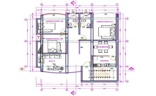 Free Download House Autocad design