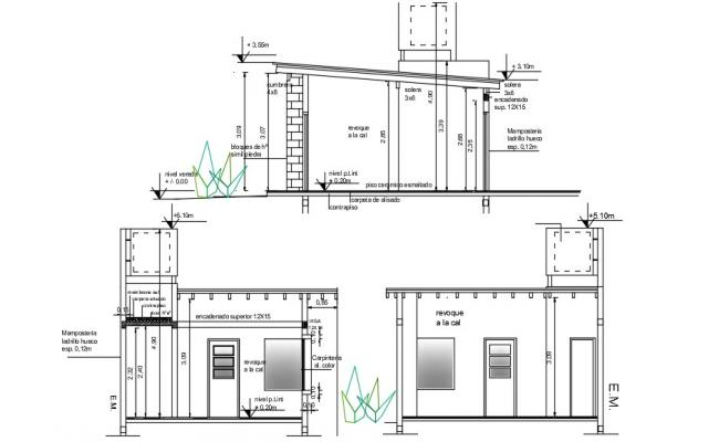 Free Download House Section AutoCAD Drawing
