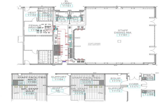 Free Download Kitchen Layout With Staff Dining flooring design,PDF File