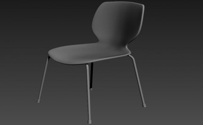 Free Download Modern Chairs Plastic Chair 3D MAX File