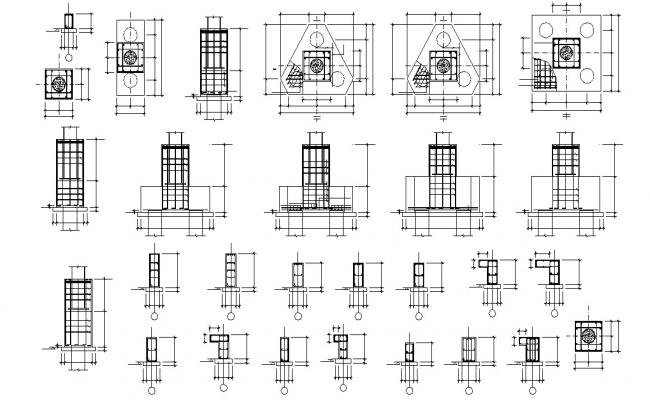 Free Download Piles And  Plinth Beam Reinforcement Design AutoCAD File