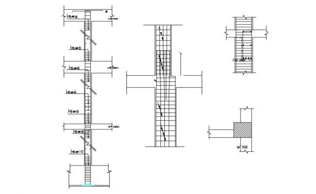 Free Download RCC Beam And Column Reinforcement Design AutoCAD File