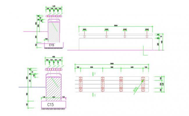 Free Download Railing Design DWG File