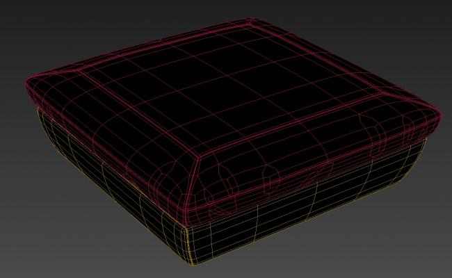 Free Download Rectangular Puffy Sofa Rendered In 3D MAX File
