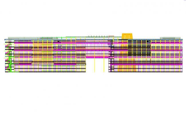 Free Download School Elevation CAD File