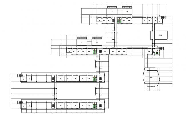 Free Download Shopping Mall CAD Plan