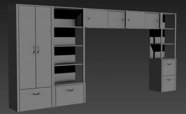 Free Download Showcase Design In Hall 3D MAX File