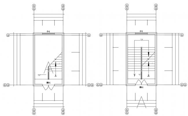 Free Download Staircase Plan Dwg File