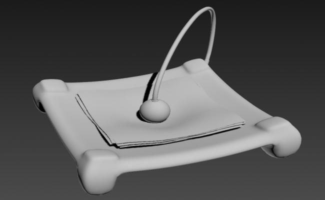 Free Download Stylish Paper Napkin Stand 3D MAX File