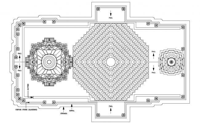 Free Download Top View Of Temple Design AutoCAD File