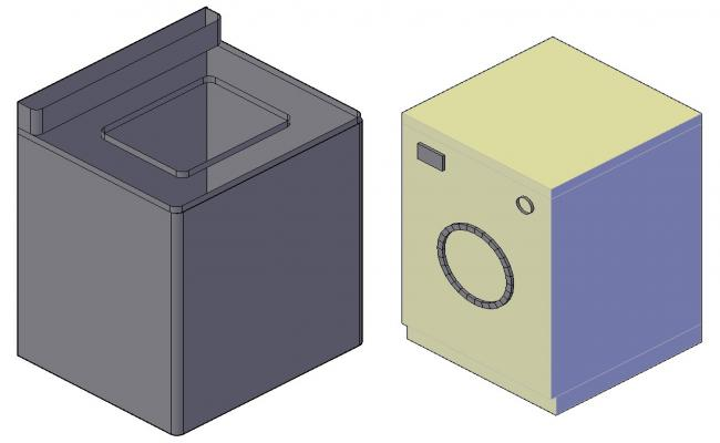 Free Download Washing Machine 3D Drawing With Rendered In 3D Max File
