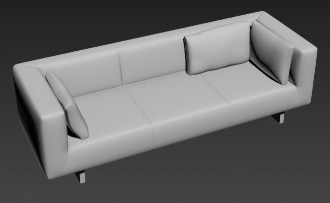 Free Download modern 3 Seater Sofa Set Designs 3D MAX File