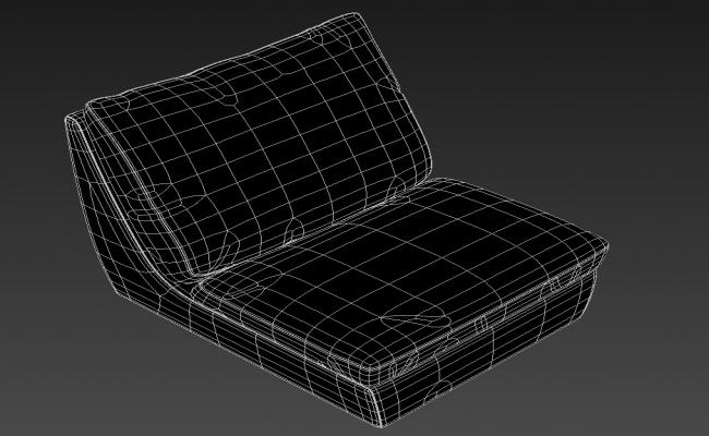 Free Modern One Seater Sofa Rendered In 3D Max File