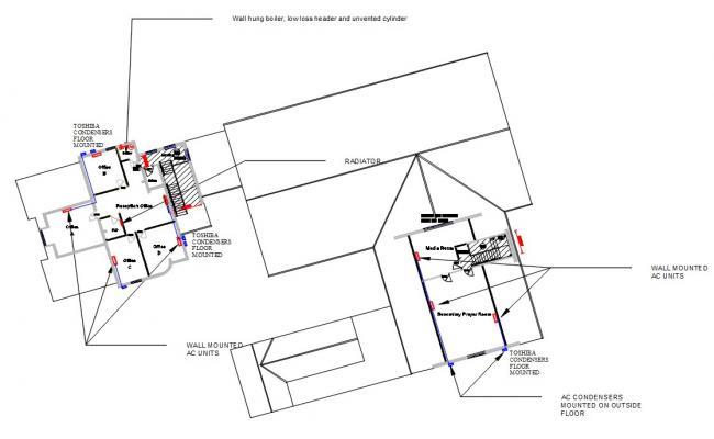 Free Office Building Floor Plan DWG File