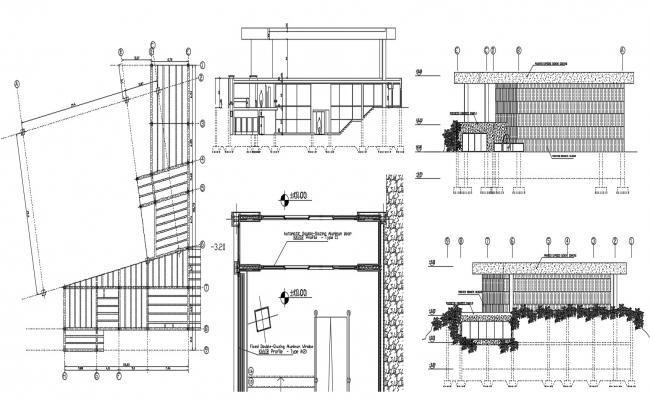 Free download Building Architecture Drawing in AutoCAD