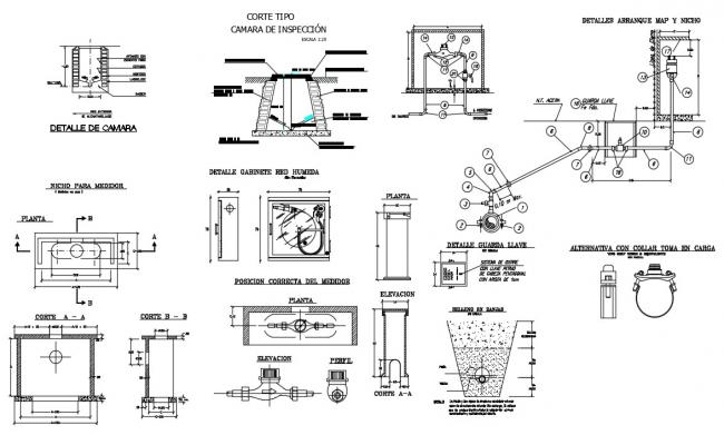 Free download plumbing system in building CAD file