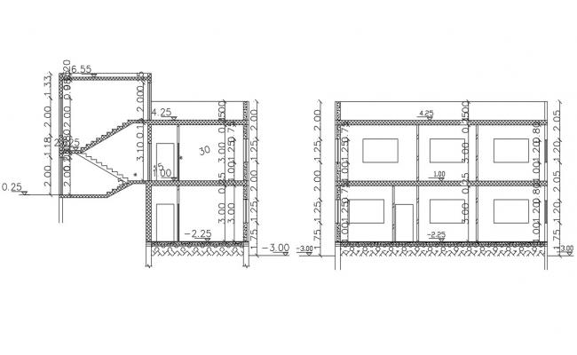 Free AutoCAD Section Drawing Of House Project
