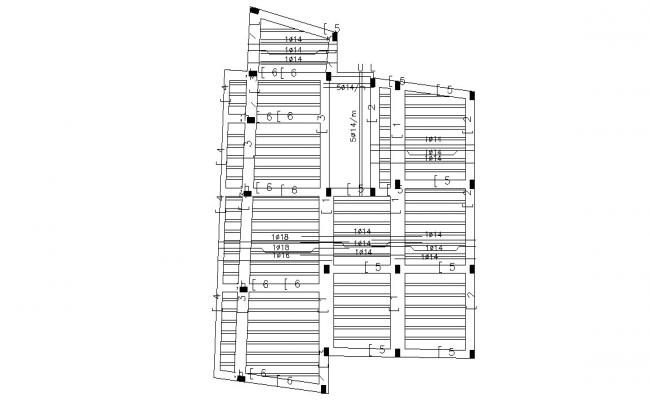 Free Download Structural Drawing of Slab Design AutoCAD File