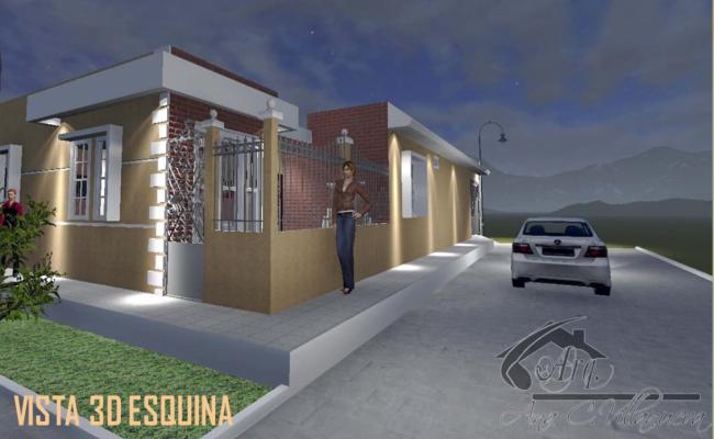 Front 3d elevation design of house