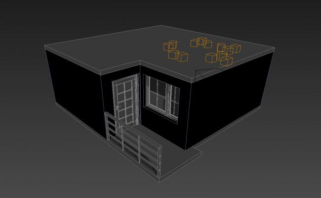 Front View Of House In 3D MAX File Free
