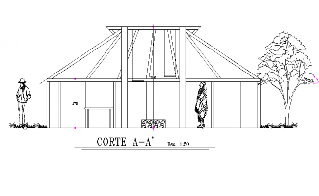 Front elevation detail