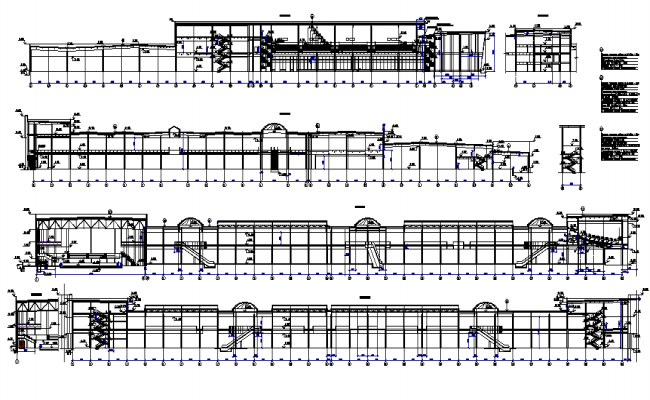 Front elevation of a shopping center