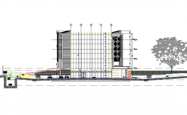 Front elevation plan detail