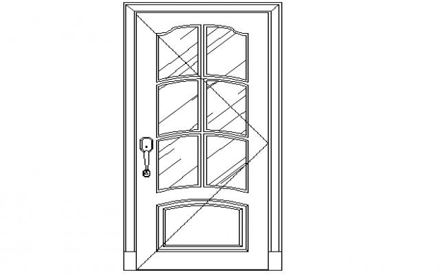 Front sectional elevation of door