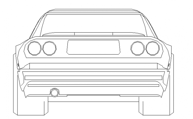 Front view of car in 2d