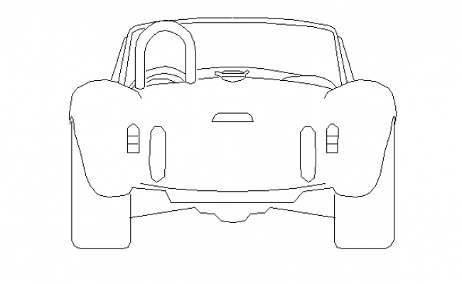 Front view of classical car