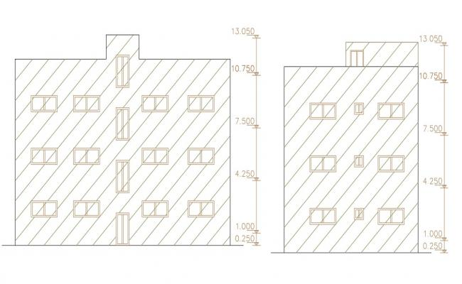 Front And Side Elevation Design Of Apartment Building