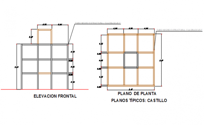 Frontal Elevation plan detail dwg file