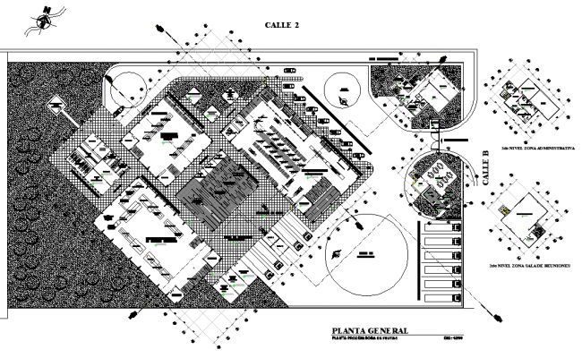 Fruit Processing Plant In AutoCAD File