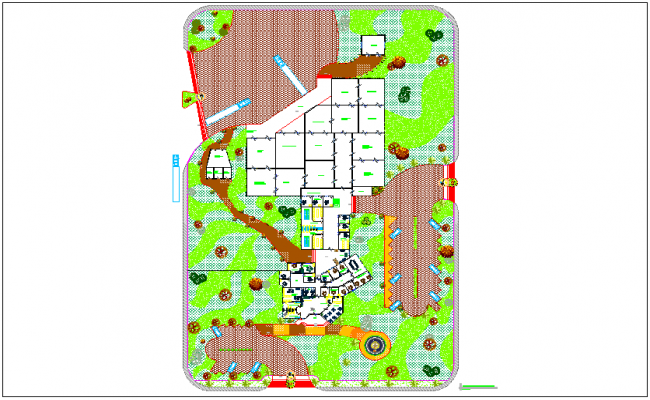 Fruit preservation plant factory implantation plan dwg file