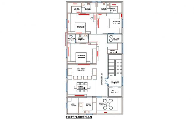 Fully Furnished Modern Bungalow Layout Design AutoCAD File