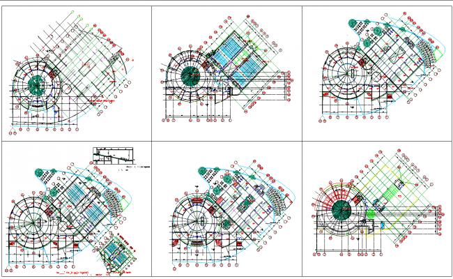 Fun Building Layout plan autocad file