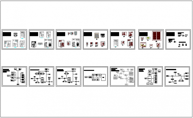 Functional relationship in financial office plan dwg file