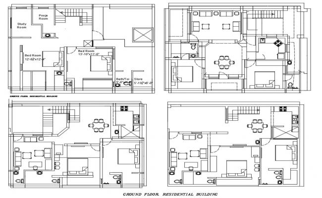 Furnished Apartments CAD Plan