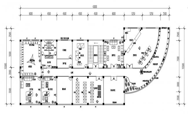 Furnished Commercial Building Designs  AutoCAD File Free