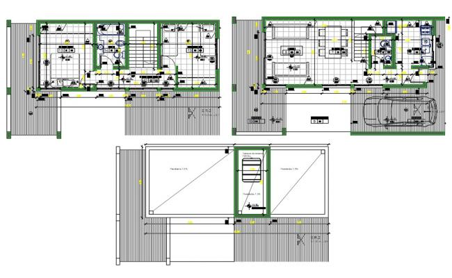 Furnished House AutoCAD Drawing