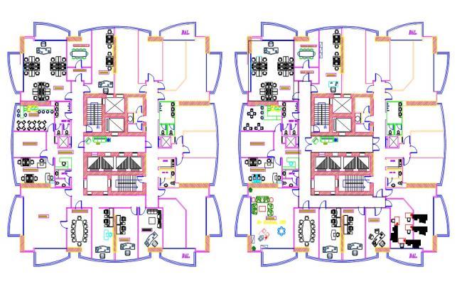 Furnished Office Building Floor Plan