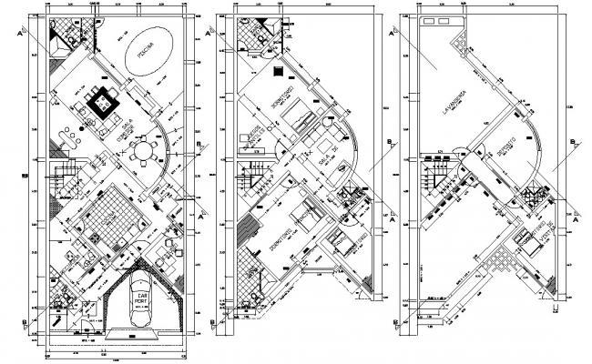 Furnished Villa Design 2d Architecture plan